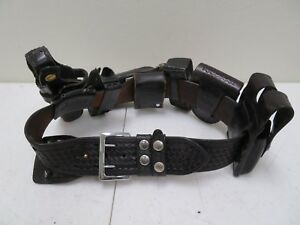 Bianchi b2 Leather Police Security Duty Belt Size 34 With 6 Accessories