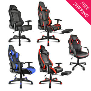 Office Chair High Back Computer Racing Gaming Chair Ergonomic Home Swivel Chair