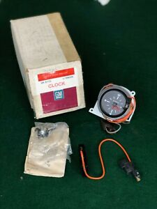Nos 1980 80 Pontiac Factory Accessory Dash Electric Clock Gm 996926