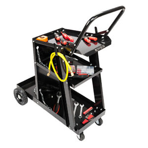 Rovsun Welding Welder Cart Mig Tig Arc Plasma Cutter Tank Storage 360 Wheel