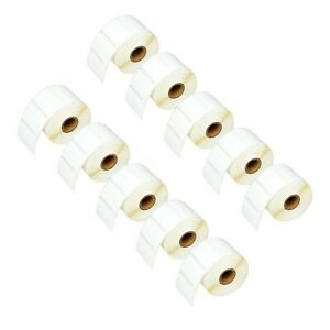 10 Roll 1500 Jewelry Labels Barbell Tags 30299 For Dymo Lw 3 8 X 3 4 Adhesive