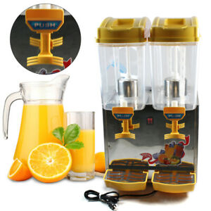 Stainless 34l Commercial Juice Beverage Cold Refrigerated Drink Dispenser