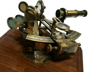 Nautical Vintage Marine German Pattern 1730s W 2 Lens Antique Sextant Ns 02