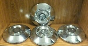 Set Of 4 1972 Ford Courier Dog Dish Hubcaps Wheel Covers 9 1 4 Ms73