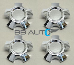4 New 20 Wheel Hub Center Caps Chrome For 2008 2018 Toyota Tundra Sequoia