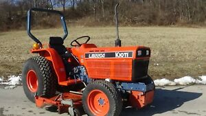 Kioti Lb2204 4x4 Tractor With 72 Belly Mower