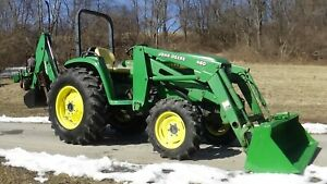 2002 John Deere 4600 4x4 Tractor With Loader And Backhoe 43 Hp