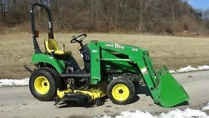2005 John Deere 2210 4x4 Tractor With Loader And Mower