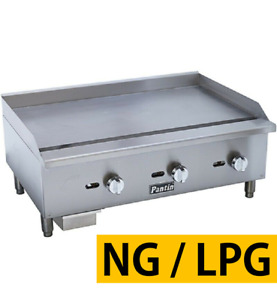 Pantin 36 Commercial Temperature Control Countertop Gas Griddle Grill Nsf Etl
