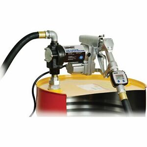 Roughneck Fuel Transfer Pump With In line Meter 1in Inlet outlet 20 Gpm 12v