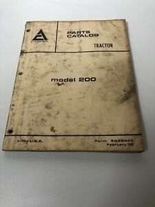Allis Chalmers 200 Model Tractor Parts Catalog Manual Original