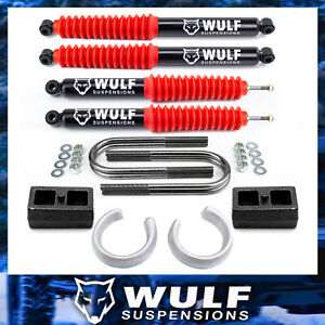 2 5 Front 2 Rear Leveling Lift Kit W Shock Set For 1998 2011 Ford Ranger 2wd