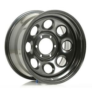Cragar Soft 8 Black Steel Wheels 17 X9 6x5 5 Bc Set Of 2