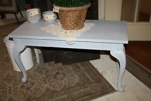 Vintage Painted Piano Bench Stool Window Bench W Storage Light Blue Chalk Paint