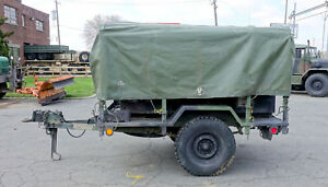 Military Surplus M116a2 3 4 Ton Trailer With Two 2 Mep 701a Diesel Generators