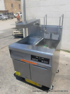 Frymaster Gas Single Digital Fryer With Dump Station Basket Lift
