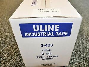 One 1 Case Of 36 Rolls Uline S 423 Packing Tape 2 X 110yds 2 Mil
