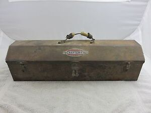 Craftsman Vintage Tombstone Small Tool Box With Removable Tool Tray Caddy
