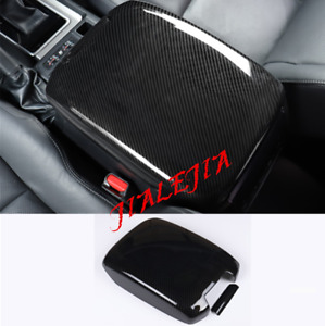 Carbon Fiber Car Armrest Box Decorative Cover For Toyota Prado Fj150 2010 2019