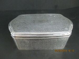 Tiffany Co Sterling Silver Large Vanity Box