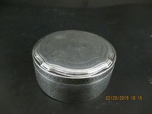 Tiffany Co Sterling Silver Round Vanity Box With Twist Lock Lid