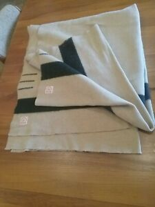 Hudsons Bay 3 Point 1900 Or Early Antique Trade Blanket Double Uncut Smoke Free