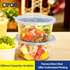 Large Plastic Food Storage Containers And Lids Meal Prep Box Disposable