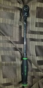 Snapon Green 3 8 Drive Dual 80 Technology Long Soft Grip Handle Flexhead Ratchet