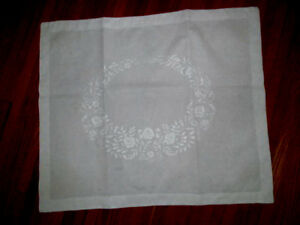 1 Antique Fine Embroidered Pillow Sham Large Lay Over Style 34 X 28