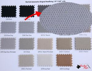 03 07 Honda Accord With Sunroof Headliner Fabric Material Foam Back Ceiling Gray