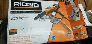 Ridgid Screwdriver Gun Drywall And Deck Collated Home Power Tool 3 In