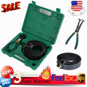Piston Ring Compressor Caliper Ratchet Pliers Expander Engine Tool Kit Set Usa