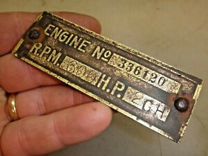 2hp Gh Hercules Economy Arco Original Name Tag Hit And Miss Old Gas Engine