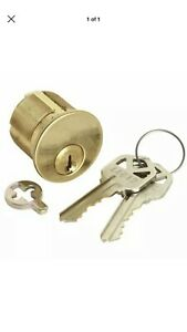 Commercial Lot Of 10 Replacement Mortise Cylinder Lock Keyed 1 1 8 Brass Kaba
