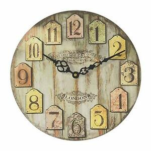 Wooden Wall Clock Hand Carved Analog Clock Elephant Design Clock Home Decor