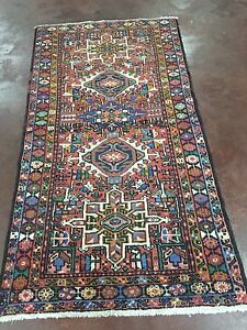 On Sale Semi Antique Hand Knotted Persian Geometric Rug Carpet Runner 3 3x6 3