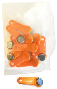 Orange Keytabs Ibuttons For Ibutton Job Site Time Clock