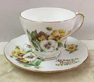Royal Winchester England Bone China Tea Cup Saucer August Vintage