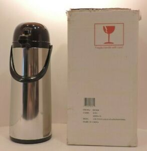 Airpot Large Stainless Steel Coffee Dispenser Thermos Carafe Nib