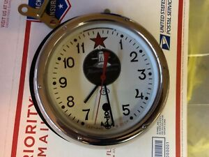 Vintage Russian Submarine Clock With Wall Mount Key In Excellent Condition