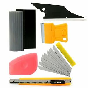 Proffesional Car Window Tint Wrapping Vinyl Tool Squeegee Scraper Applicator Kit