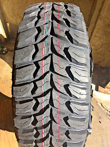 4 X New 33x12 50r18 Crosswind Mt Mud Terrain Tires Lre Set Of Four 12 5r18