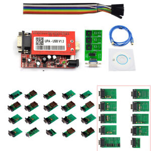2018 V1 3 Upa Usb Programmer With Full Adaptors With Nec Function 16pin Soic Zif