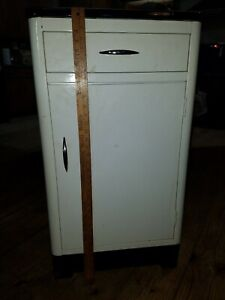 Enamel Topped Kitchen Cupboard Vintage