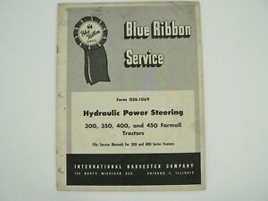 Hydraulic Power Steering Farmall Tractors Service Manual Int l Harvester 1957