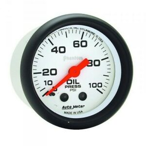 Autometer Phantom Series Oil Pressure Gauge 0 100 Psi 5721