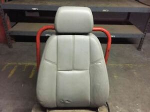 2007 Chevrolet Tahoe Front Driver Upper Gray Power Seat Cushion Back Rest X16291