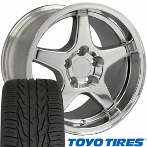 Cp 17 Wheel Tire Set Fit Corvette Zr1 Style Polished Rims Toyo X
