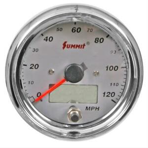 Summit Racing Speedometer 0 120 Mph 3 1 2 Dia Electrical G2887 10