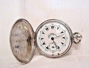 Antique Mid 19th Century Turkish Ottoman Empire Silver Pocket Watch